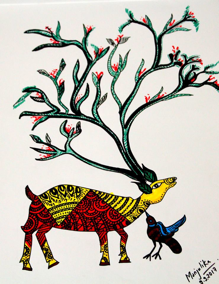 Gond art, Art book, Singinawa Jungle Lodge