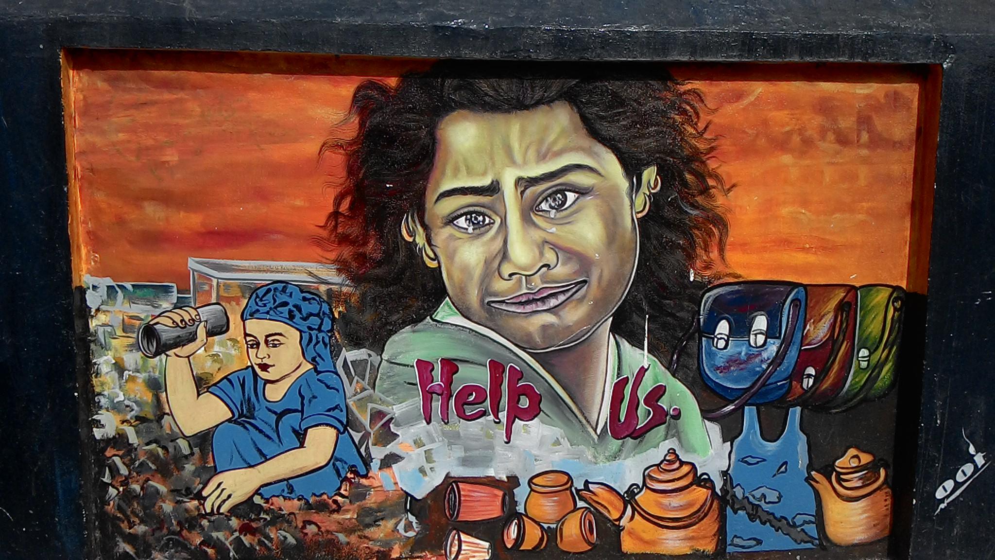 Help us, Travel, Street Art