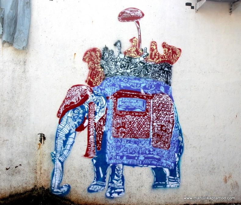 Wall art, Sassoon Docks, Colaba