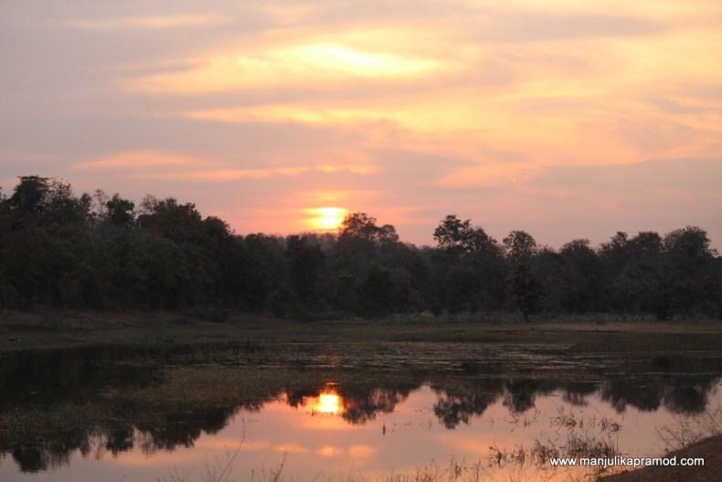 Sunset at Kohka lake