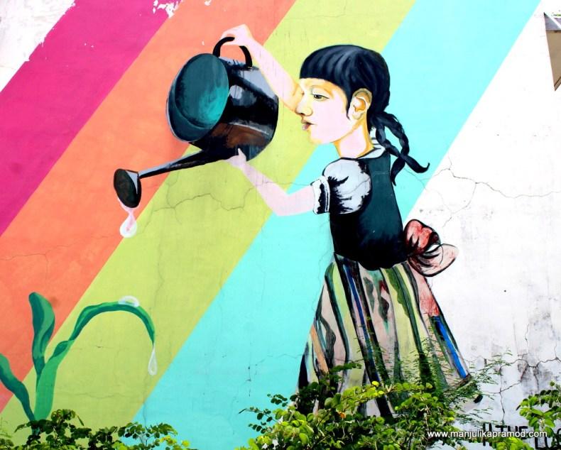 Wall art on flyover