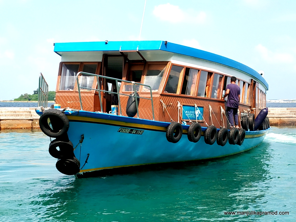 The beautiful ferry boats of Maldives make life easy.