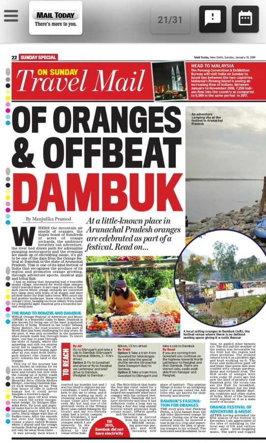 Of Oranges and Offbeat Dambuk
