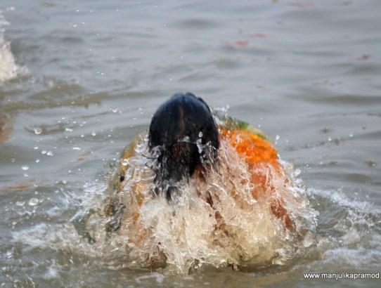 My holy dip at Ardh Kumbh in Prayagraj
