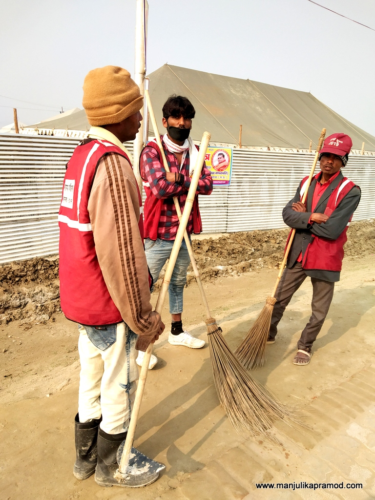 The cleanliness drive at Kumbh