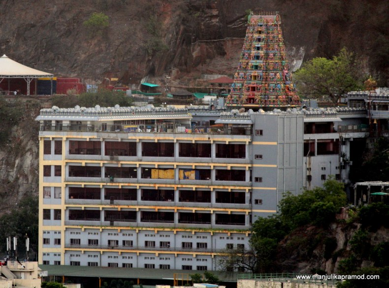 Kanaka Durga Temple - This picture was clicked from Gandhi Hill with 55-250mm lens.