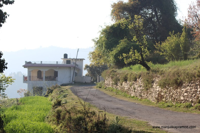 The winding roads of the village.