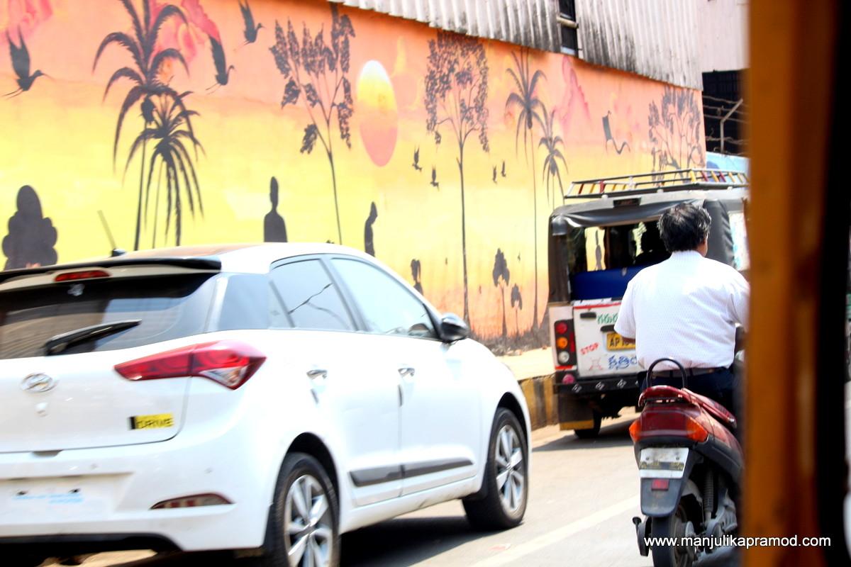 A busy road in Vijayawada