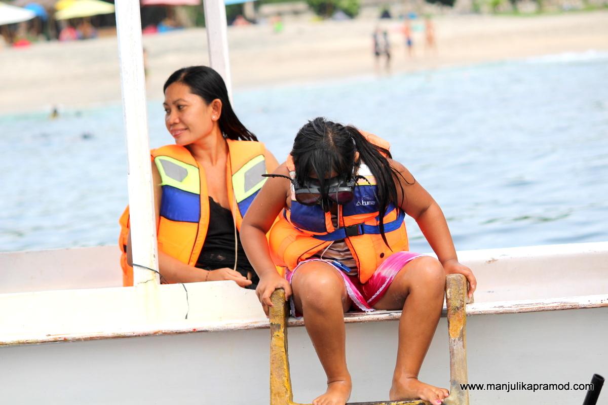 Go adventurous in Bali. Try snorkelling.