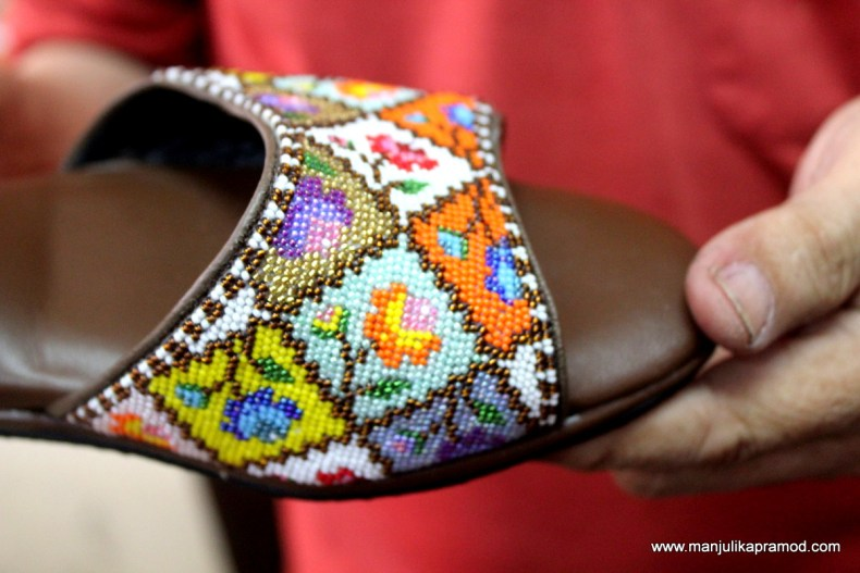 Peranakan beaded slippers or 'manik shoes' - Malaysia Trip