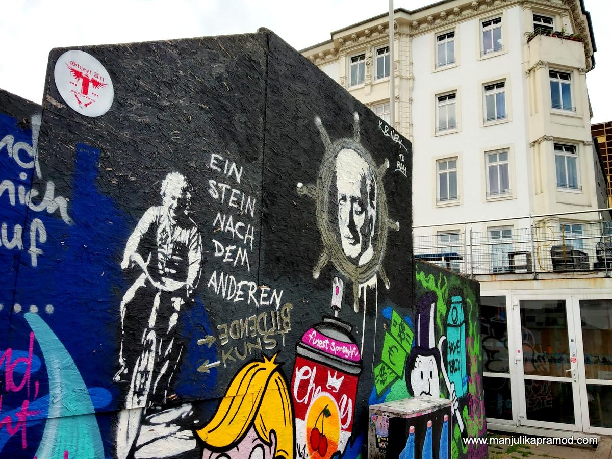 Einstein= Street art in Hamburg