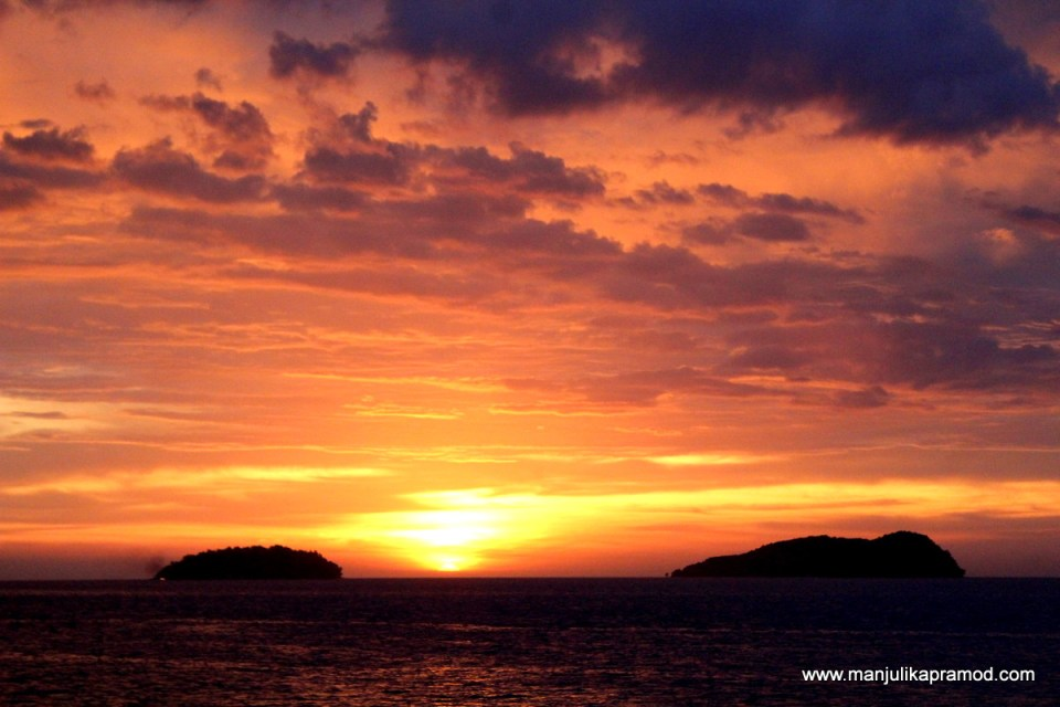 Gorgeous sunset as witnessed from North Borneo Cruises