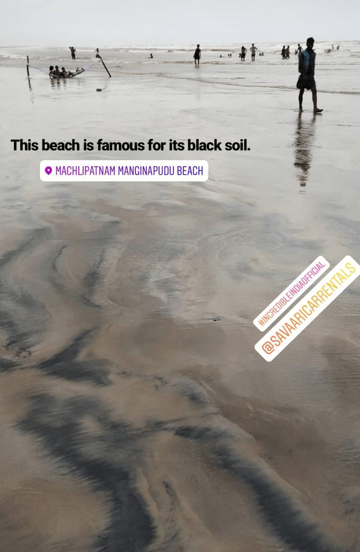 Machlipatnam beach is famous for its black soil