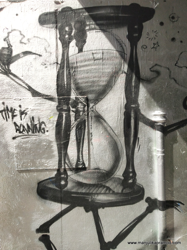 Time is running street art