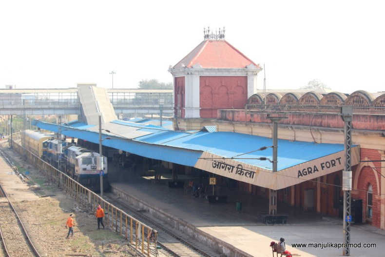 The city walks began at the Agra fort railway station