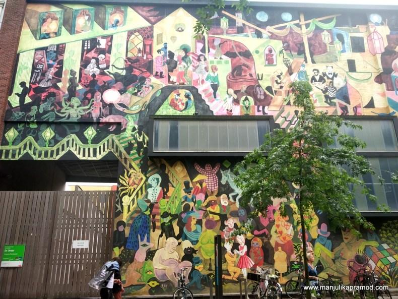 Huge murals in Antwerp