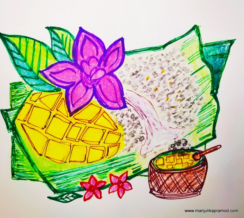 Mango and sticky rice -Lockdown art