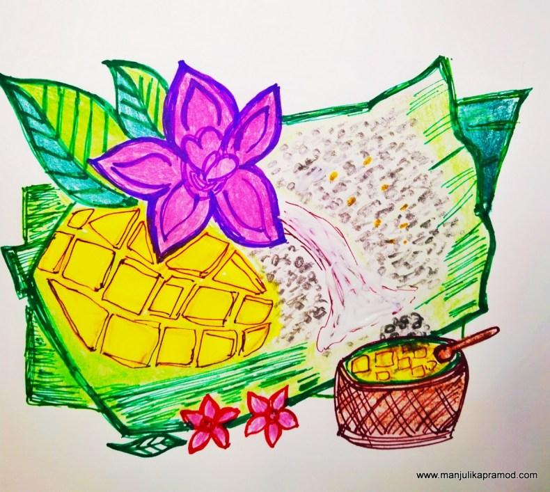 Mango and sticky rice -Lockdown art