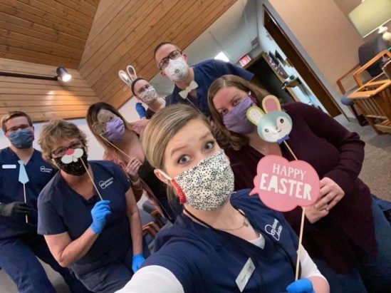 During the COVID-19 pandemic, our team is working hard to keep our patients and co-workers safe and healthy while keeping spirits up and having a little fun.