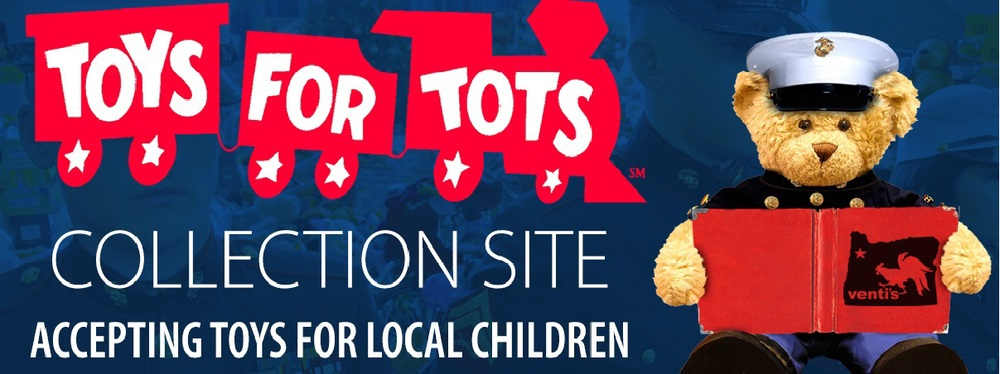 We are excited to be an official Toys-For-Tots drop off location until December 15th. Help us fill our three boxes & spread some holiday cheer!