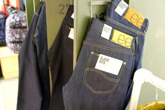 Lee 101 tarjoaa farkuista kolme mallia.
