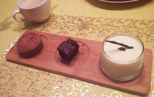Trio dessert plates