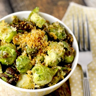 roasted parmesan and panko brussels sprouts|www.mannaandspice.com