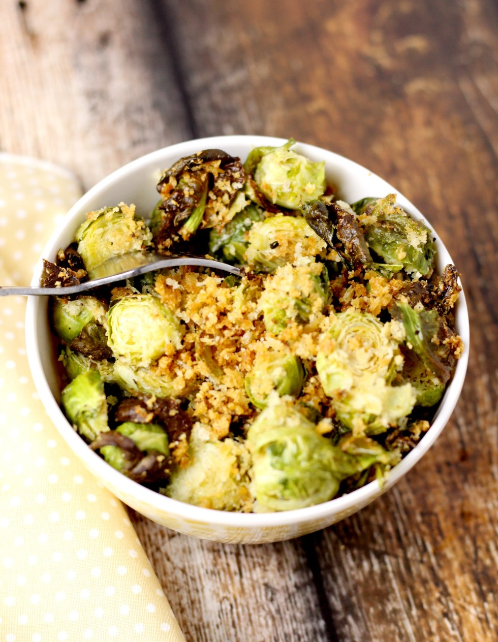 parmesan and panko brussels sprouts