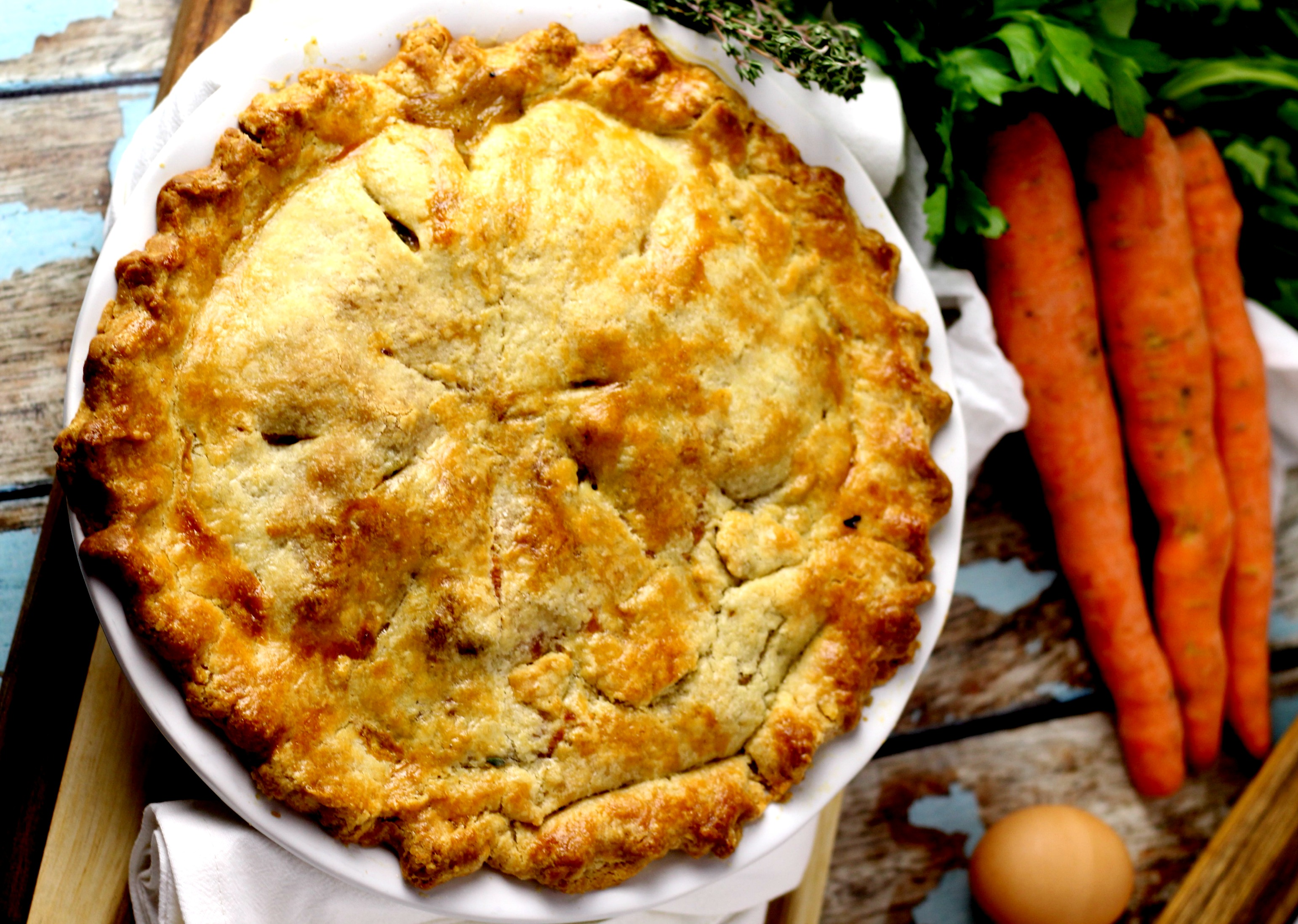 flaky turkey pot pie
