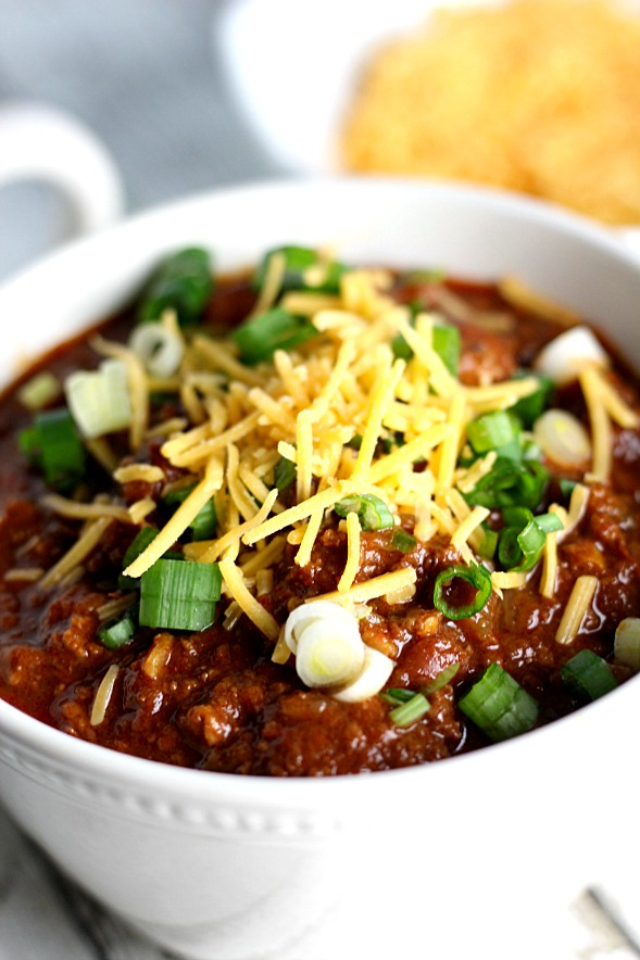 Homstyle Game Day Chili|www.mannaandspice.com