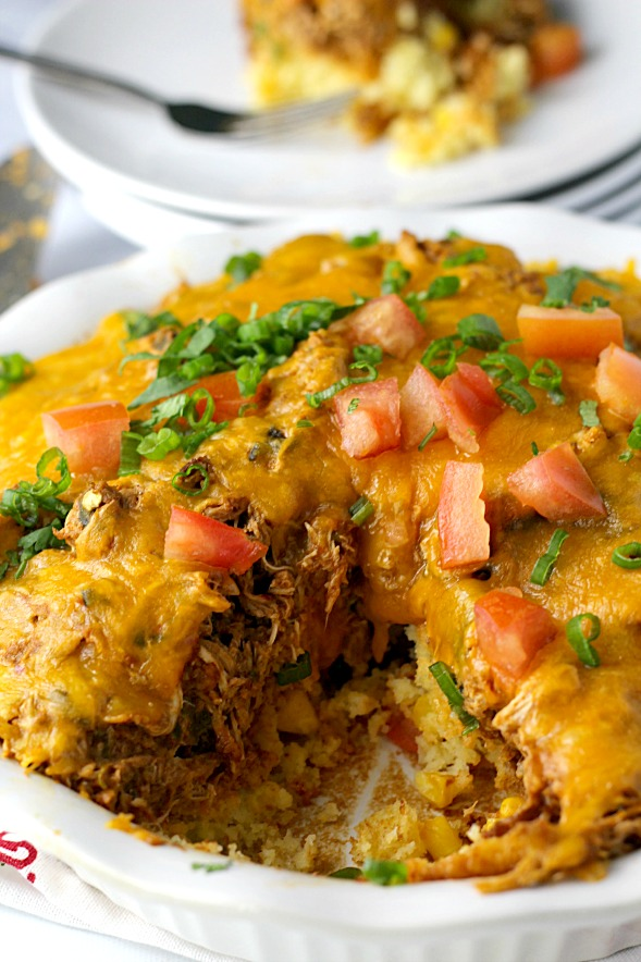 Chicken Tamale Pie|www.mannaandspice.com