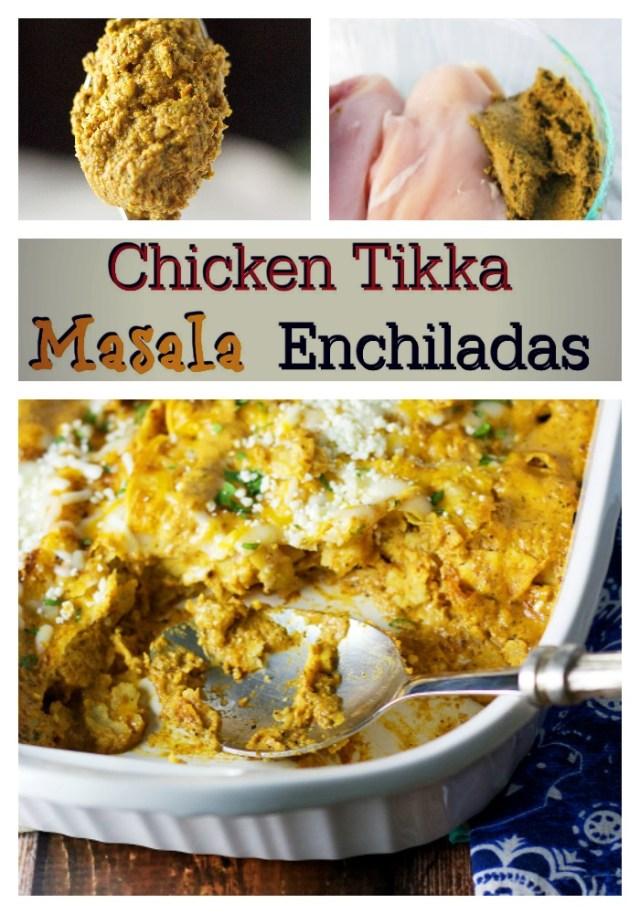 Chicken TIkka Masala Enchiladas| www.mannaandspice.com