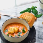creamy cozy back-pocket tomato soup, totally customizable, dairy-free, vegan, whole30 & paleo friendly. All of the flavor and kid friendly!|www.mannaandspice.com