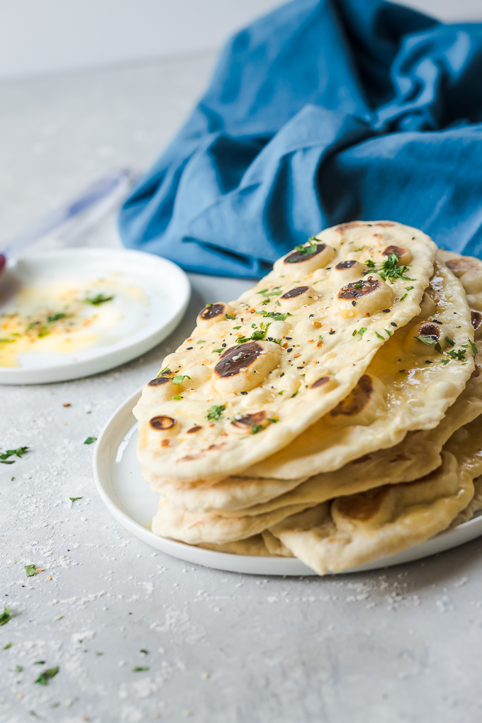 Tender, fluffy, easy 10-minute Naan, no yeast, no waiting.|www.mannaandspice.com