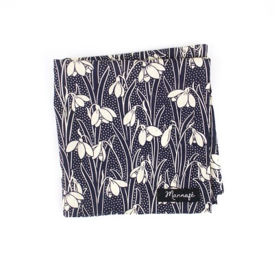 Pochette de costume Liberty Hesketh navy blue