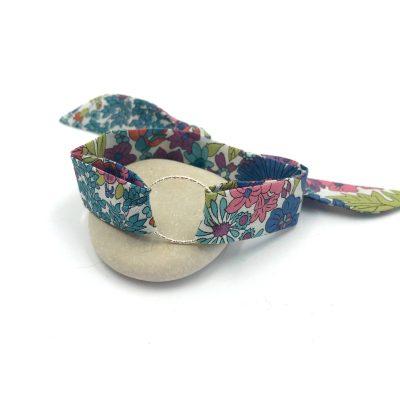 Bracelet à nouer – Liberty Margaret Annie prune