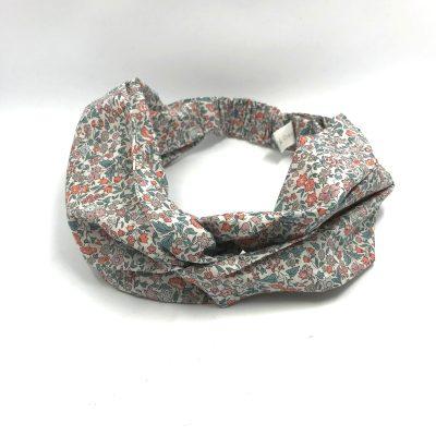 Headband en liberty Ava corail