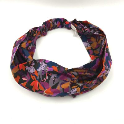 Headband en liberty Camo flower violet