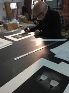 Philip Van Keuren, photogravure, edition signing