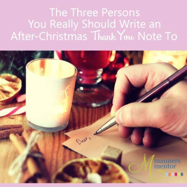 The 3 Persons You Really Should Write After Christmas Thank Notes To