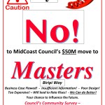 IT'S WAR! MidCoast Council community rally to stop Masters acquisition