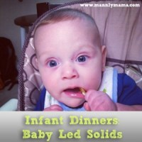 Infant Dinners: Baby Led Solids