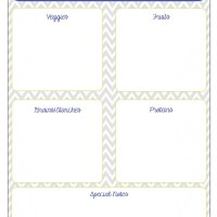 Infant Dinners: Getting Organized {Free Printables}