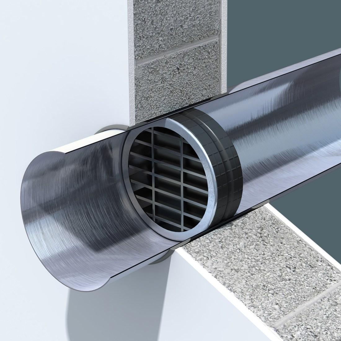 circular ventilation grille, circular intumescent grille, fire and smoke grille, fire proof circular ventilation grille,