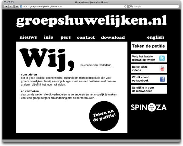www.groepshuwelijken.nl, start page two