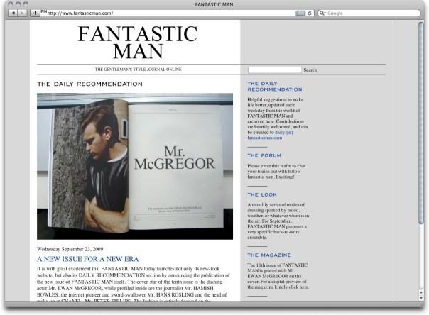 Fantastic Man: The Gentlemen's Style Journal Online