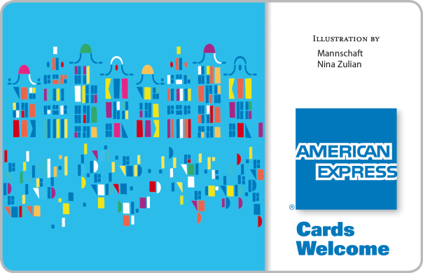 American Express sticker designed by Nina Zulian at mannschaft