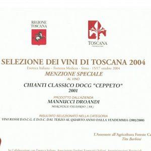 SELEZIONE DEI VINI DI TOSCANA CHIANTI CLASSICO CEPPETO 2001