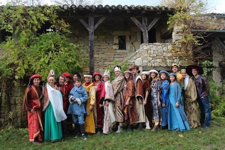 fête médiévale à La Gabertie