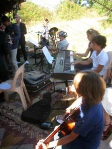 Les jeunes musiciens au mariage de Sophie et Bruno à La Gabertie